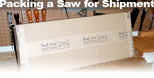 Packing a Saw for Shipment